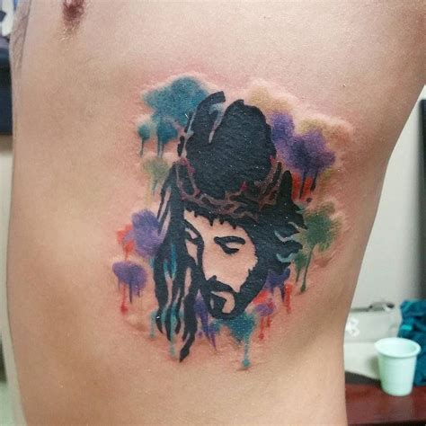 watercolor tattoo jesus 27 best brush stroke tattoos images on brush