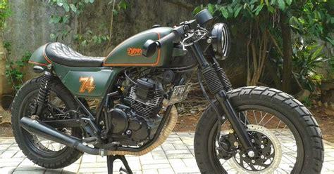 Motor Modif Dijual by Dijual Yamaha Scorpio Modif Caferacer Gahar Jakarta