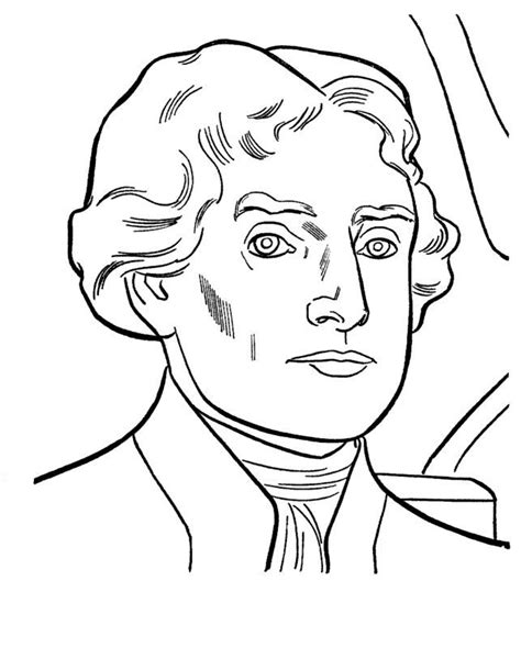 Jefferson Coloring Pages printable coloring page of photo of jefferson coloring home