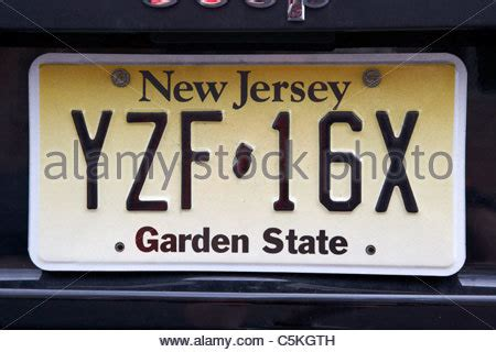 Garden State Auto by New Jersey State License Plate Stock Vector