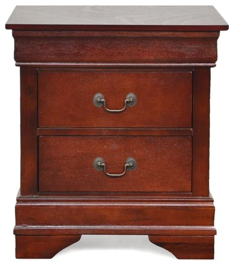 Ctc Furniture by Louis Philippe Cherry 2 Drawer Stand Traditional