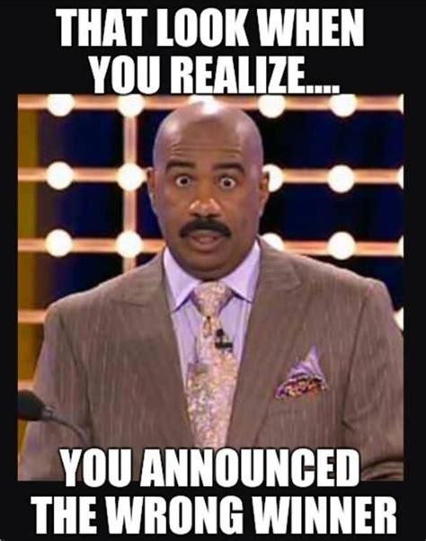 Steve Harvey Memes - steve harvey that look when you realize you announced