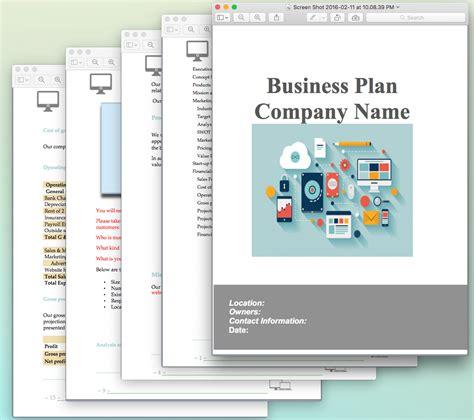 business plan presentation template improve presentation