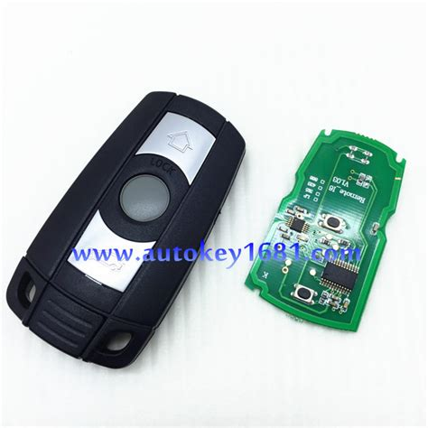 Alarm Motor Smart Key car key alarm for car bmw 3 button smart card 315mhz 433mhz with electric transponder 46chip