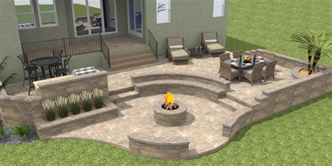 Curved Fire Pit Bench 3d Paver Patios Gallery Daniellefence Com