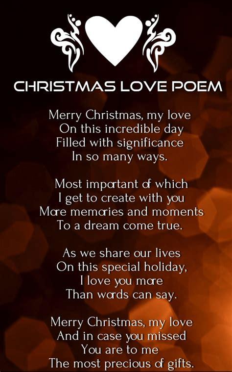 christmas love poems