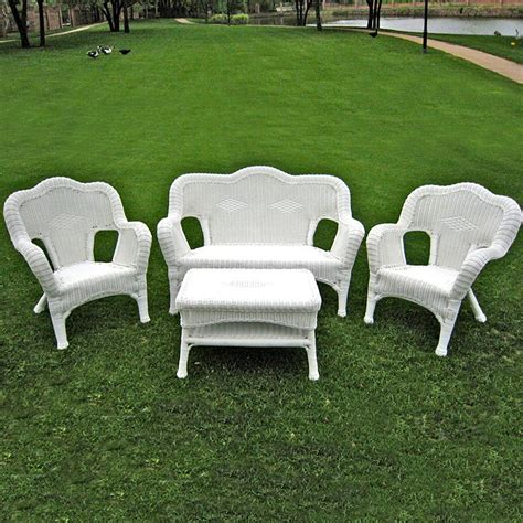 White Wicker Outdoor Furniture by Resin Wicker Furniture White Resin Chairs Walmart White
