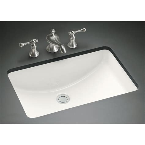 kohler rectangular vanity sink verticyl white undermount rectangular bathroom sink with