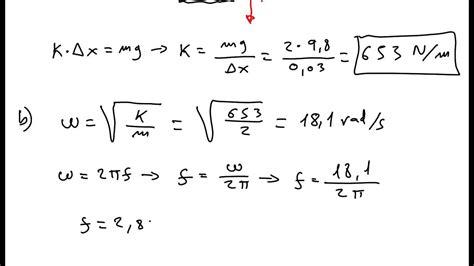 formula oscilacion amortiguada ejercicio de movimiento arm 243 nico simple y resortes 3 youtube