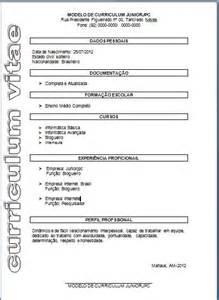 Curriculum Vitae Online by Modelos De Curriculum Para Preencher E Conseguir O Seu