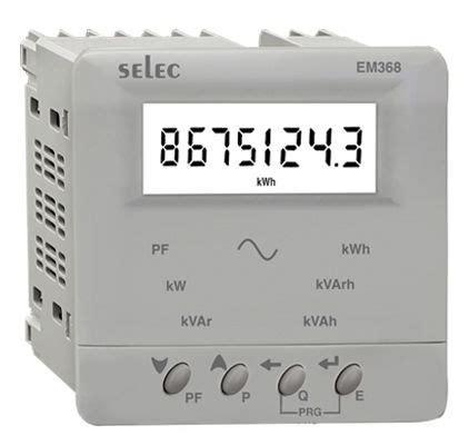 Energy Meter Em368 C Cu Selec digital vaf energy meter lcd selec indomakmur mandiri