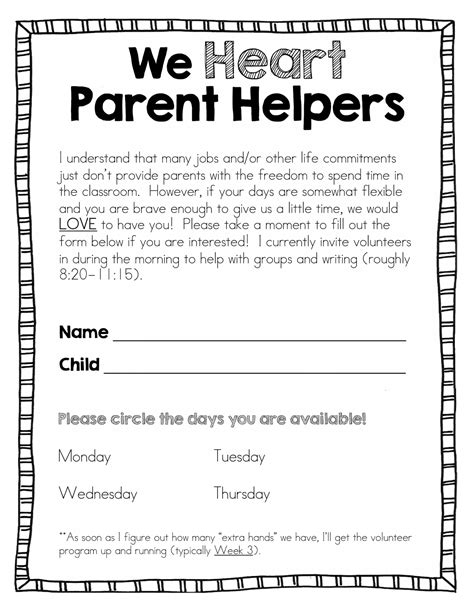 thank you letter to parents for volunteering hoppin all about parent volunteers