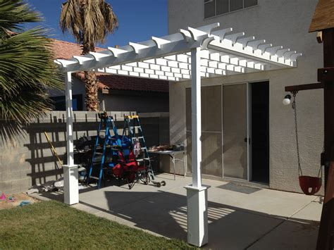 How To Build A Pergola Attached To The House by Ana White Pergola Attached Directly To The House Diy