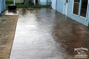 Colored Concrete Patio Pictures by Stamped Concrete