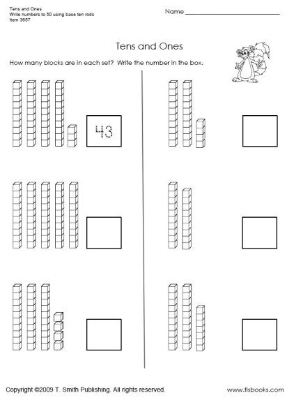 Printable Tens And Units Worksheets | counting by tens worksheet kindergarten kindergarten