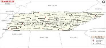 map of tennessee state map of usa