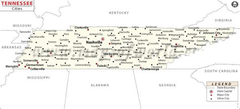 maps of tennessee cities map of tennessee state map of usa