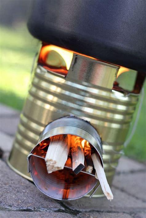 diy portable tin  rocket stove  owner builder network