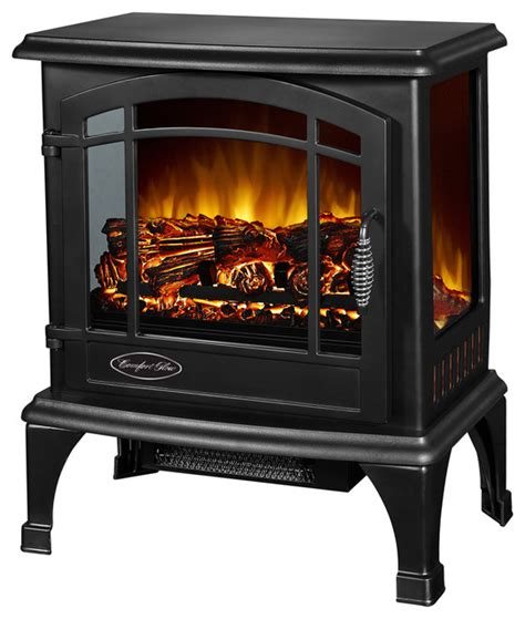 comfort glow electric fireplace comfort glow sanibel electric stove black contemporary