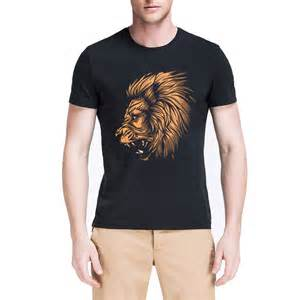 summer style men shirt fashion famous brand 2015 animal shirt a015 digital print combed cotton