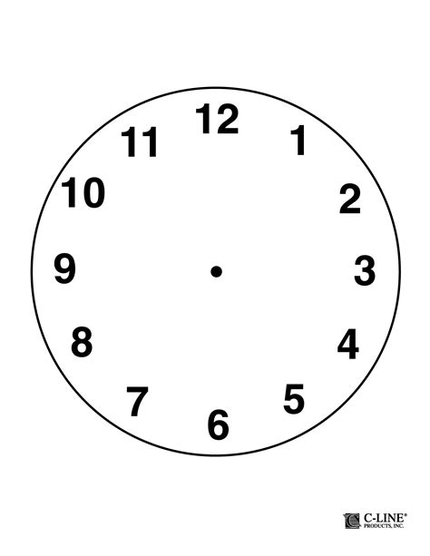 free printable clock images clock template beepmunk