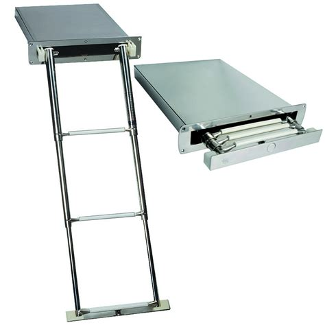 boat ladder swimmers concealed telescopic boat boarding ladders