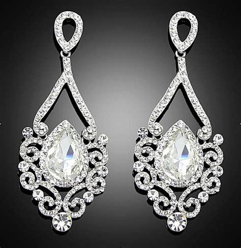 Fashion Vintage Wedding Crystal Glass Rhinestone Dangle Fashion Chandelier Earrings
