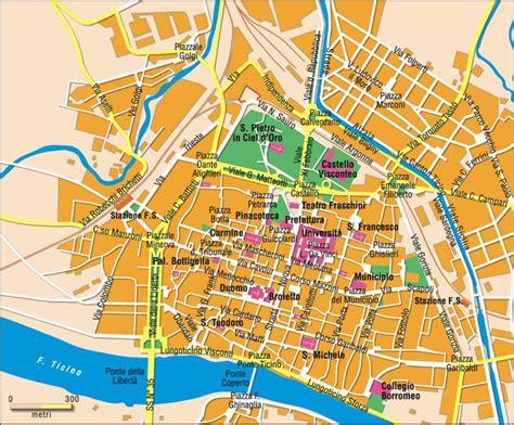 pavia mappa turistica パヴィア