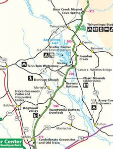 mile marker map natchez trace points of interest by mile post page 7
