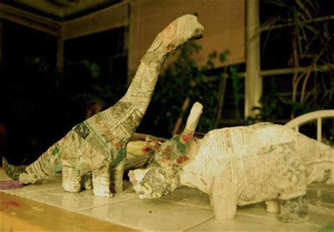 How To Make Paper Mache Dinosaur - jean keepin it green paper mache dinosaur tutorial