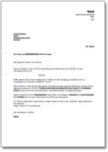 Muster Kündigung Wohnung Eigenbedarf K 252 Ndigung Mietvertrag Mieter Nachmieterangebot At Musterbrief