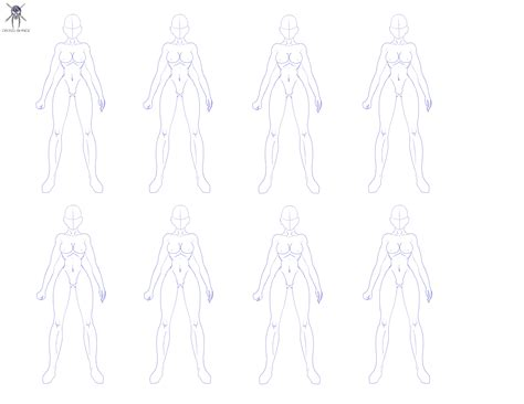 character design template best photos of blank anime templates character