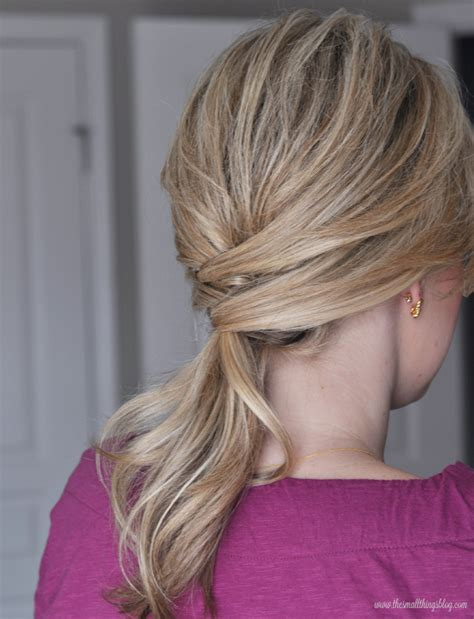 hair long enough for a ponytail not just a ponytail the small things blog