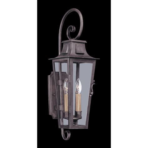 Pewter Outdoor Lighting Troy Lighting Quarter 2 Light Aged Pewter Outdoor Wall Mount Lantern B2962 The Home Depot