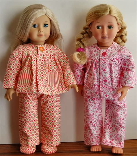 pajama pattern sewing for american dolls warm and oh so cozy pajamas