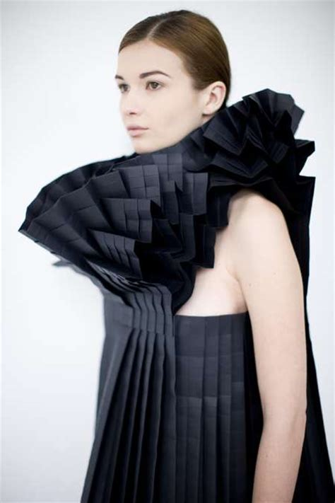Origami In Fashion - complex origami couture origami morana kranjec