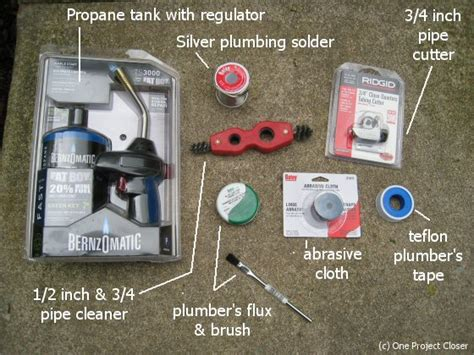 Basic Plumbing Tools List by Everything You Need To Build A Basic Plumber S Kit One