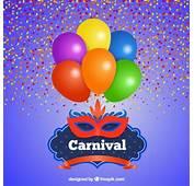 Tarjeta De Carnaval Con Globos Y M&225scara  Descargar