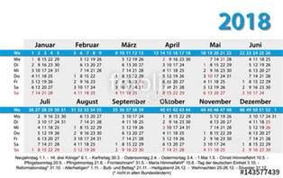 Kalendar 2018 So Praznici Quot Kalender 2018 Visitenkartenformat Vorlage Quot Stock Image