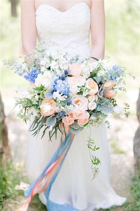 wedding bouquet blue pink and blue bridal bouquet wedding ideas 100