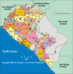 orange county california map california map