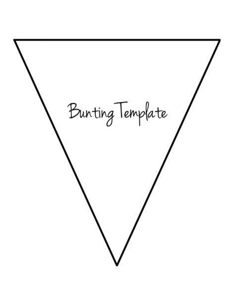 bunting template to print flag bunting template