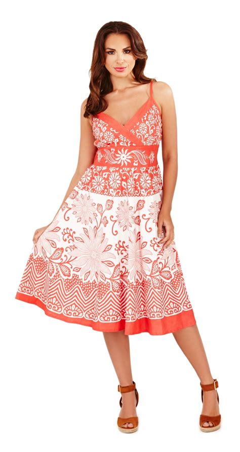womens summer dresses that are perfect for day and night womens summer dress 100 cotton v neck floral mid length
