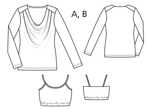 blouse with cowl neck sewing pattern 4234 made to cowl neck blouse 01 2017 119a sewing patterns