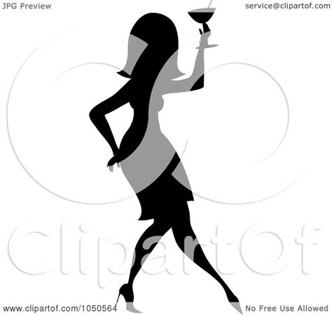 mixed drink clipart black and white cocktail women clipart