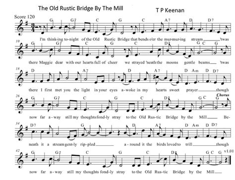 the rustic bridge by the mill lyrics and chords