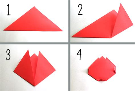 Paper Folding Steps - create springtime with simple origami tulips make