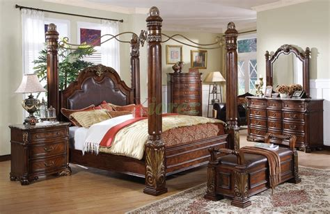 leather headboard post bed   metal canopy