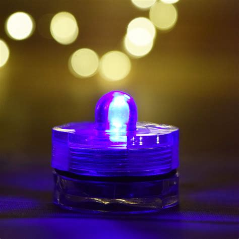 Purple Led Submersible Waterproof Flower Floral Tea Lights Led Lights Waterproof