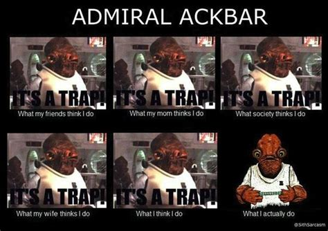 Admiral Ackbar Meme - admiral ackbar it s a trap the force is strong with